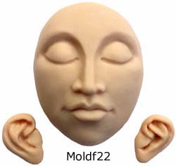 34 Craft Push Molds help to create dolls, figures, face beads, and more