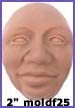 moldf25- 2 inch(5.08 cm) Male Face, Thinking