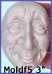 moldf5- 3 inch(7.62 cm) whimsical male face(with ears)