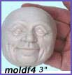 moldf4- 3 inch(7.62 cm) jolly male face(with ears)